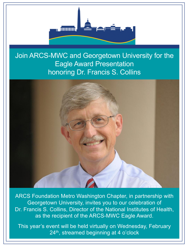 ARCS-MWC is delighted to partner with Georgetown University in bringing you the Eagle Award Presentation.